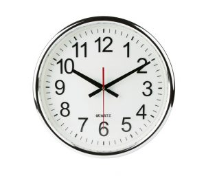 analog-wall-clock-on-white-background